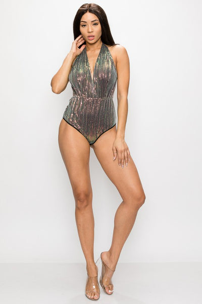 Green Sequin Bodysuit
