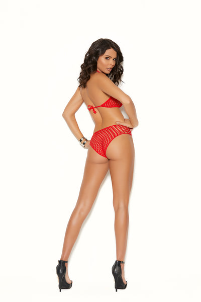 2 PC Red Crochet top and matching panty