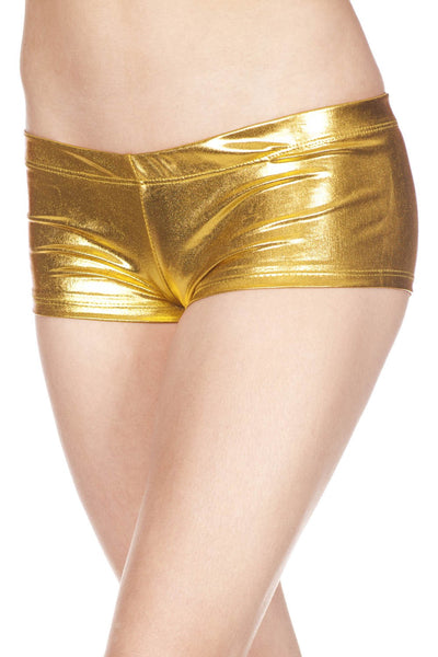 Metallic mini booty shorts