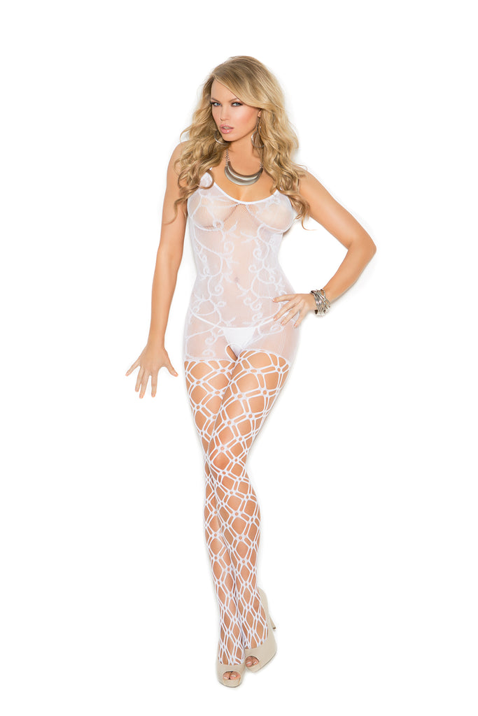 Crochet Bodystocking With Open Crotch