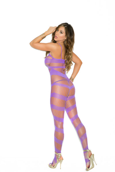 Strappy bodystocking with open crotch