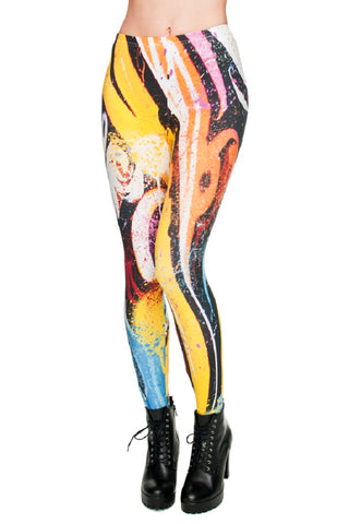 Abstract Free Sketch Painting Legging