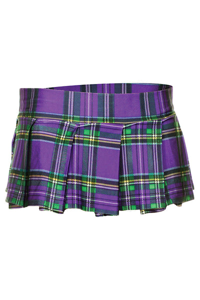 Violet Mini Plaid Skirt