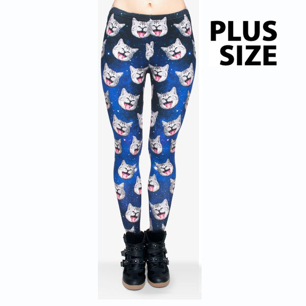 Extra large Size Galaxy Cats Legging