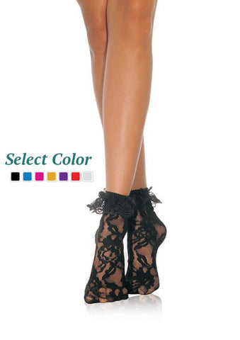 Lace Anklet W/Ruffle