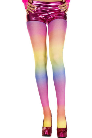 Rainbow Opaque Tights
