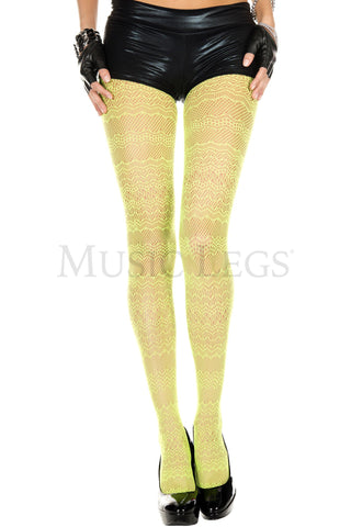 Neon Green Lace Spandex Tights