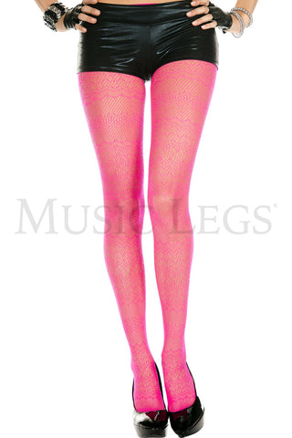 Neon Pink Lace Spandex Tights