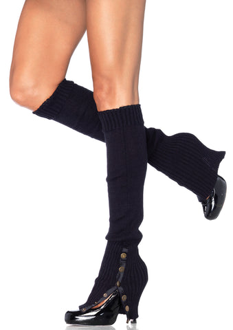Leg Warmers W/ Button Side One Size