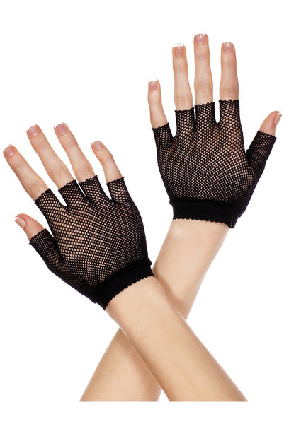 Fishnet wrist length warmer