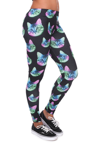 Neon Cat Black Legging