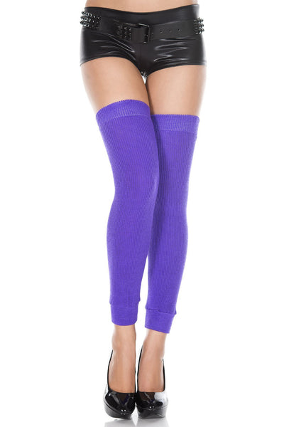 Footless Acrylic Thigh Hi Leg Warmer