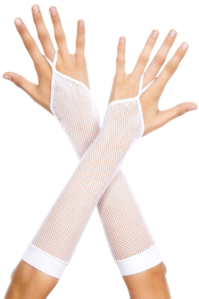 Finger loop fishnet arm warmer