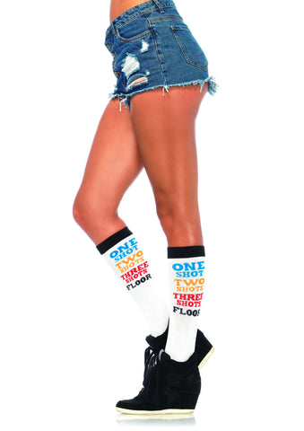 Shot Time Acrylic Knee Socks