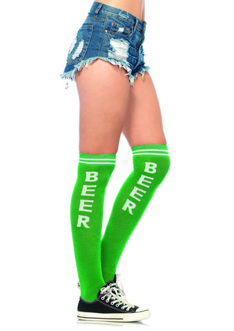 Beer Time Acrylic Athletic Socks
