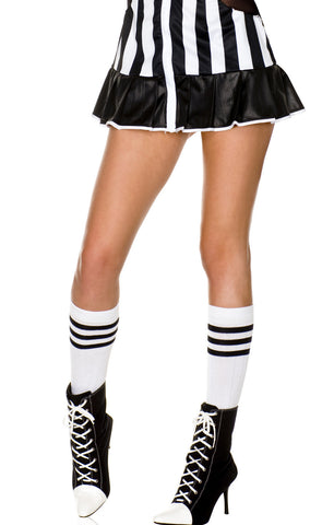 Acrylic Knee Hi With Striped Top