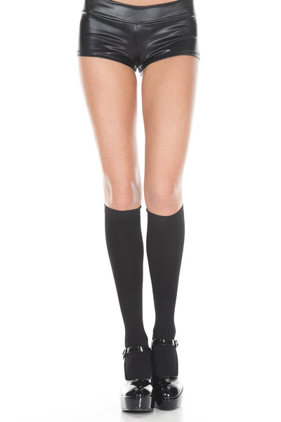 Black Thermal Opaque Knee High