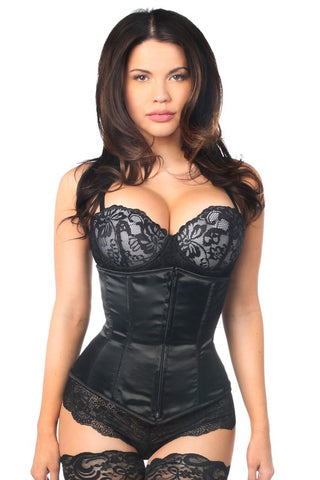 Lavish Black Underbust Zipper Cincher with Steel Bones