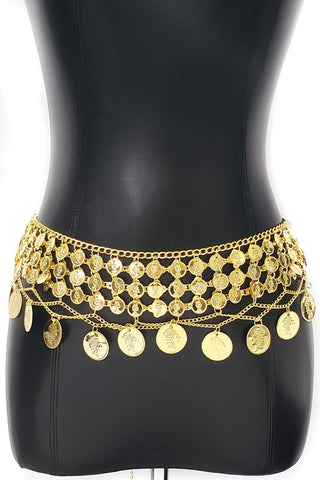 Gold Belly Dance Small Coin Belt