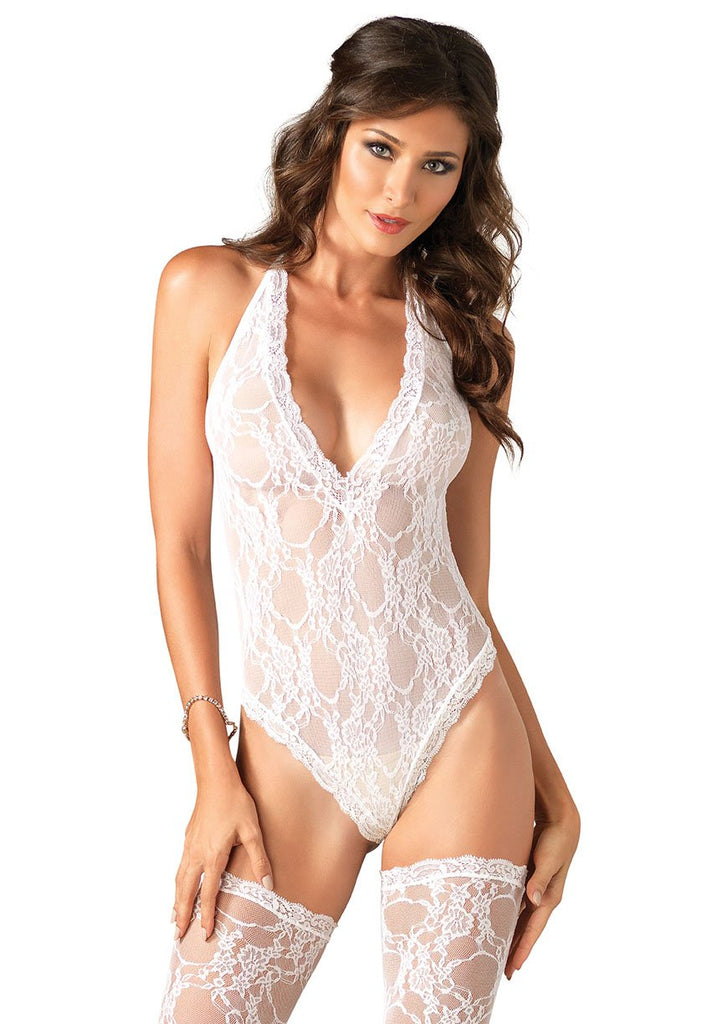 Floral Lace Teddy Set