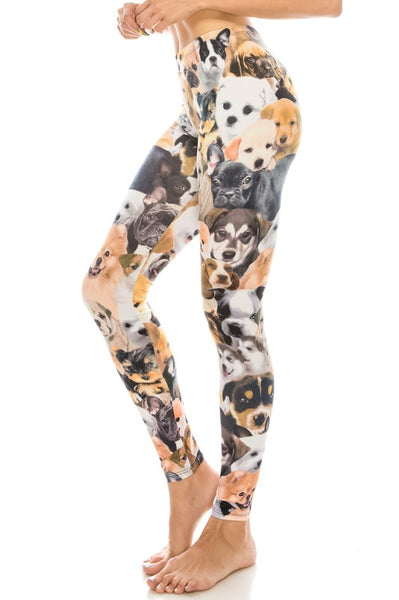 Dogs and puppies all over Legging