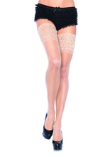 Lycra Sheer Thi Hi W/5 Silicone Lace Top