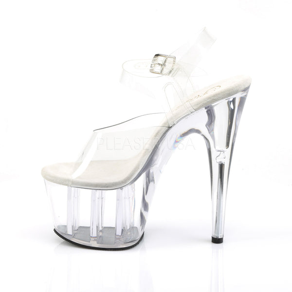 "7"" Clear Heel on Clear Platforms"