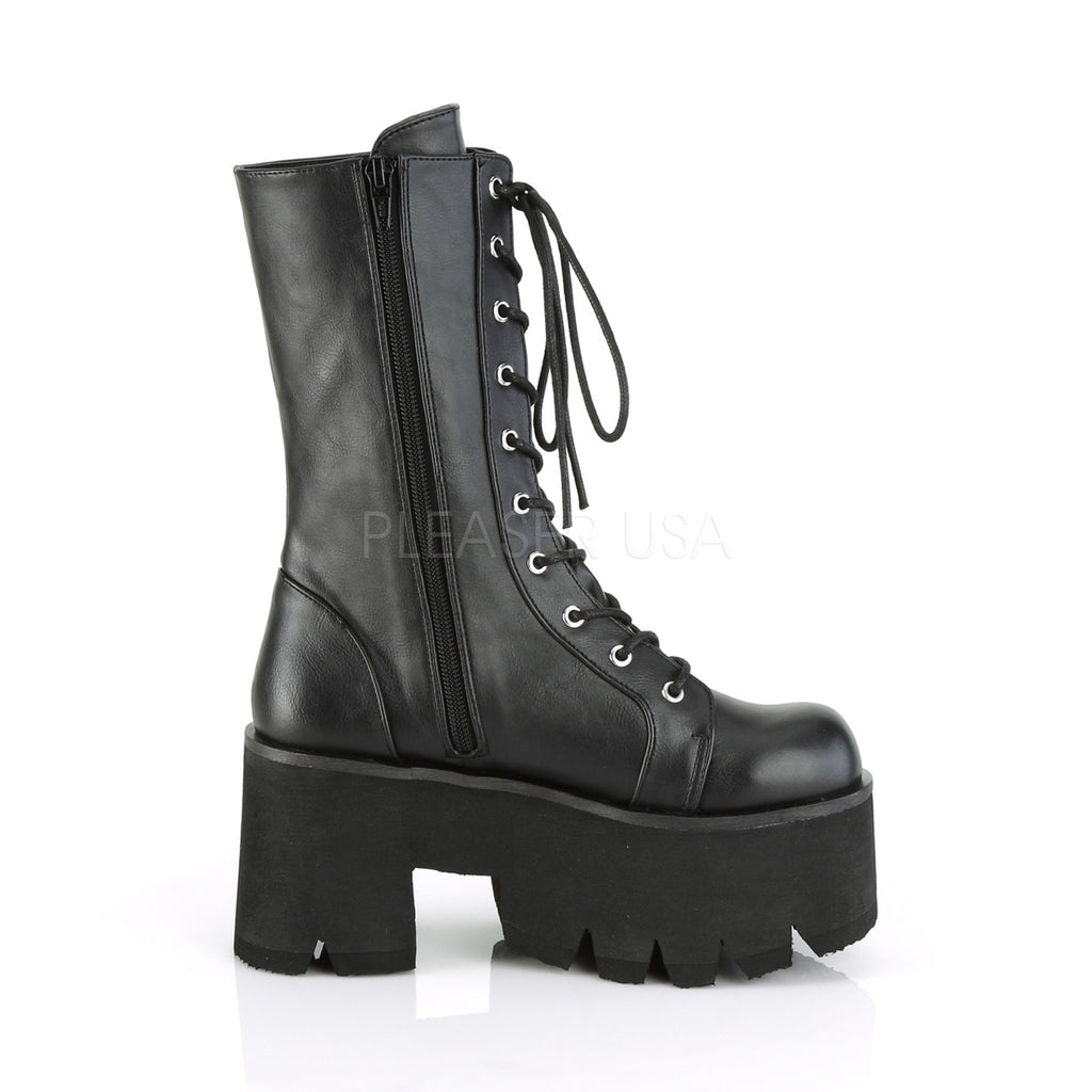 "3 1/2"" Platform Lace-Up Mid-Calf Boot"