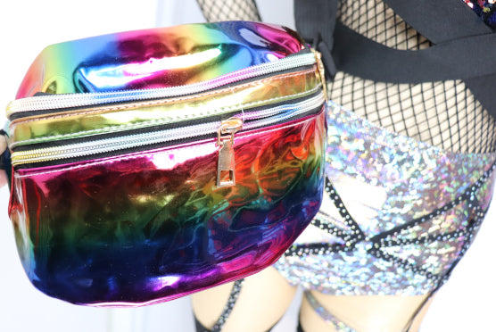 Rainbow Holographic Fanny Pack