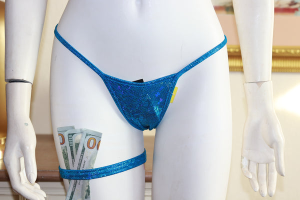 Sparkly Holographic Foil Thong