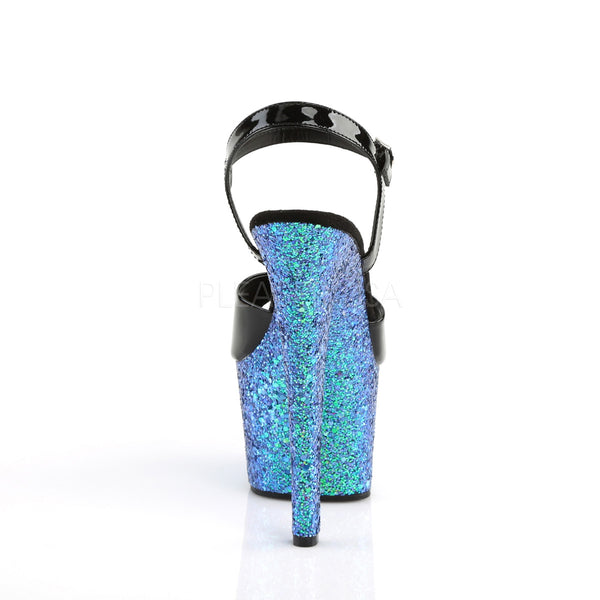 7 Inch Platform Featuring Holographic Glitters