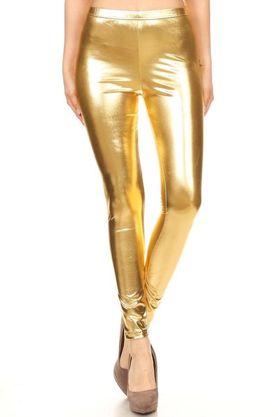 Men's Gold Shiny Legging Unisex