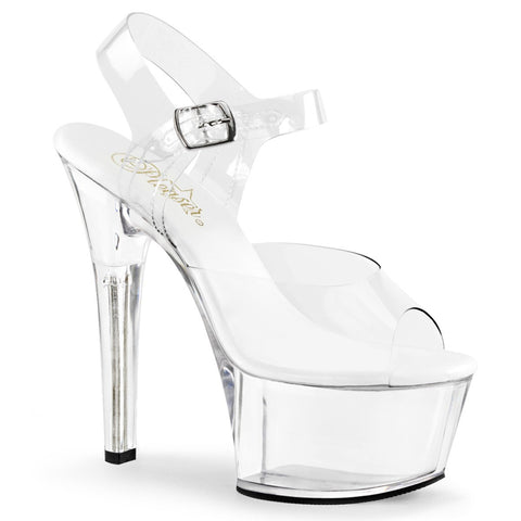 6 inch clear heel shoes