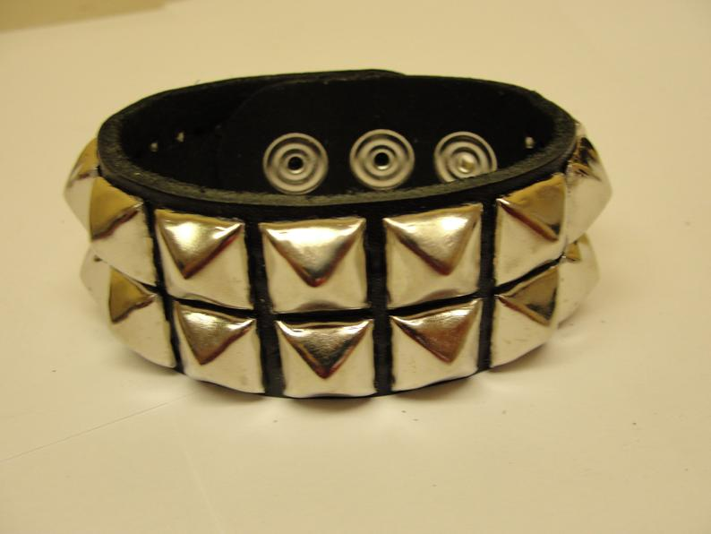 Two Row Pyramid Stud Bracelet