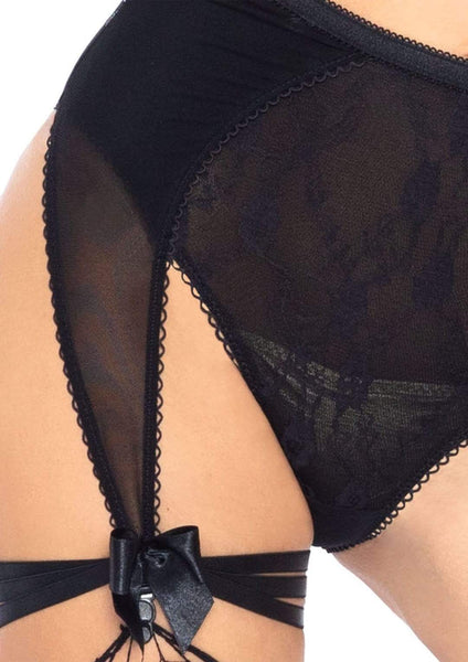 Bra And High Waist Garter Panty