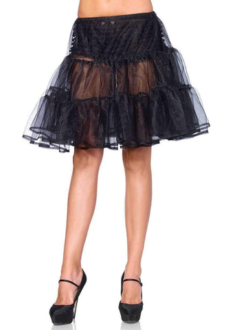 Black Shimmer Knee Length Petticoat