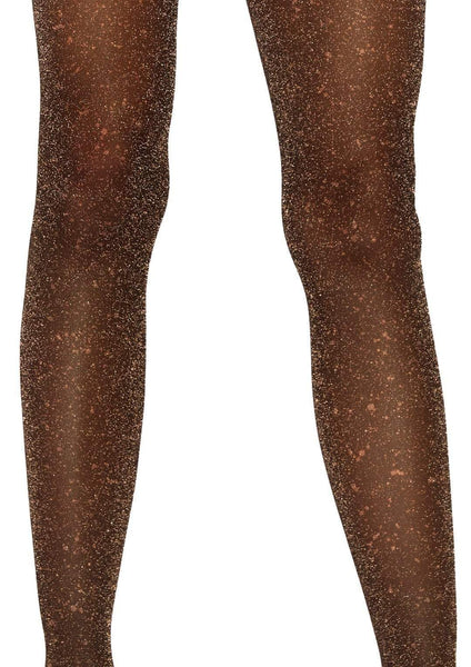 Black with Gold Shimmer Tights