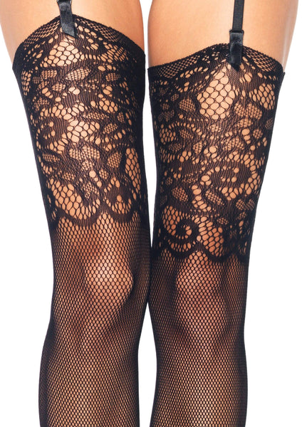 Fishnet Stockings W/ Lace Top