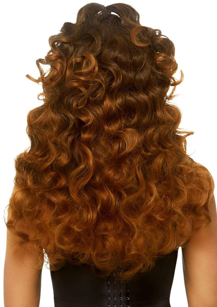 Brown Long Curly Ponytail Wig