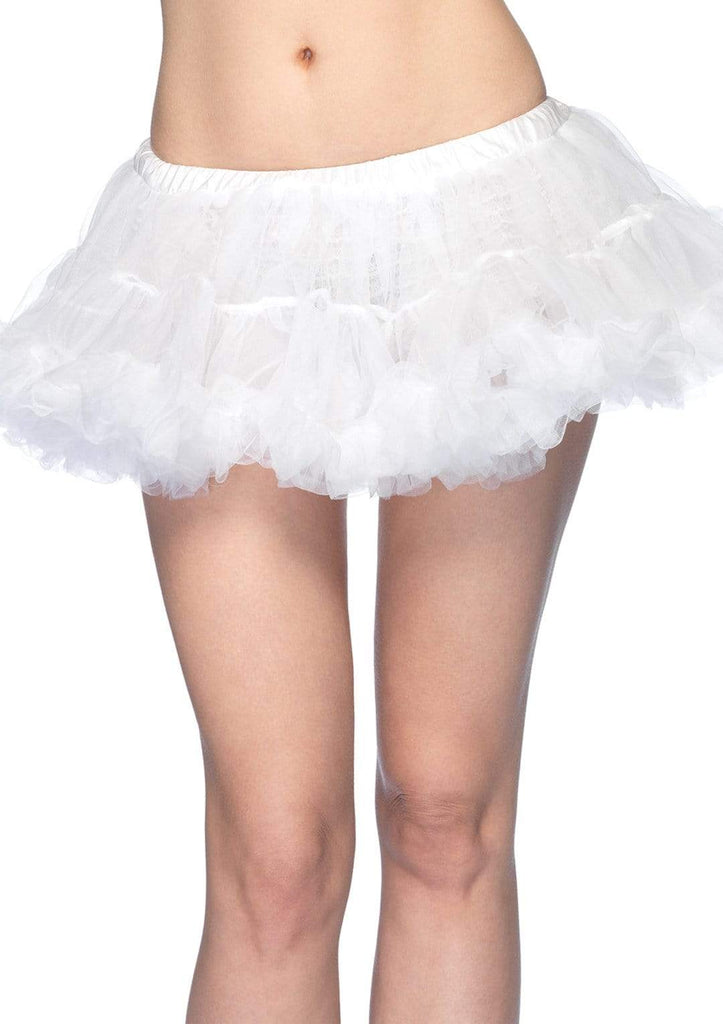 White Puffy Chiffon Mini Petticoat