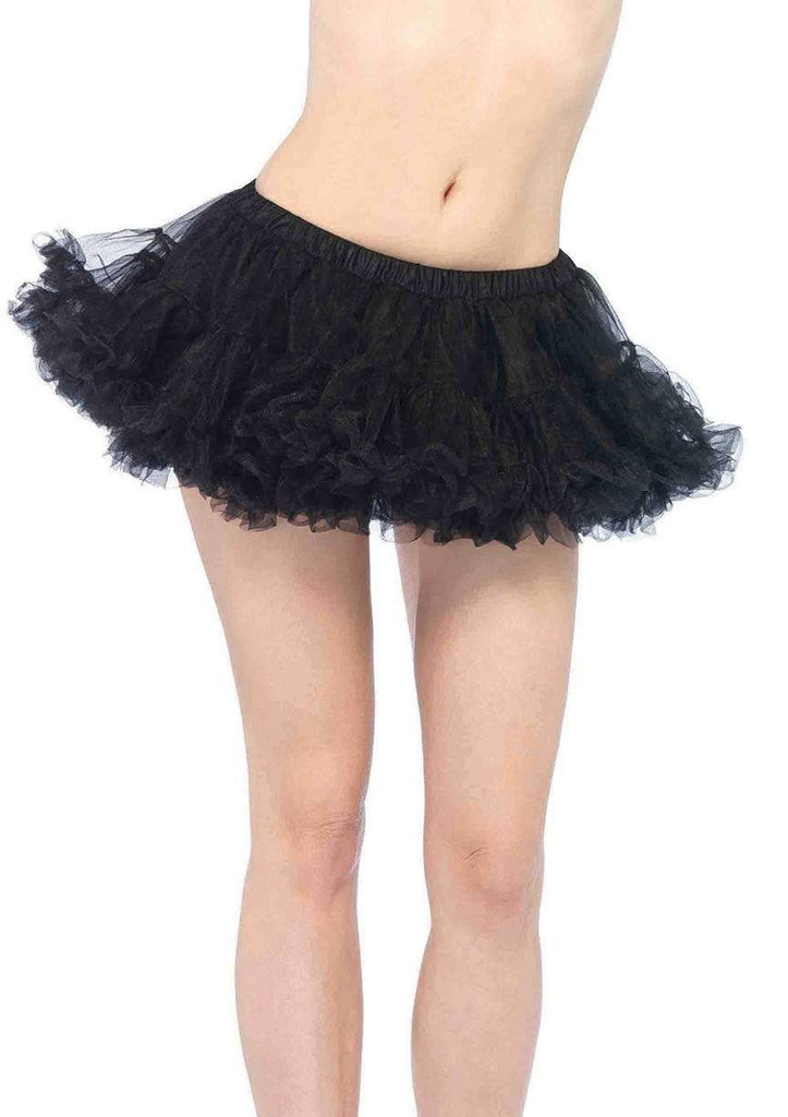 Black Puffy Chiffon Mini Petticoat