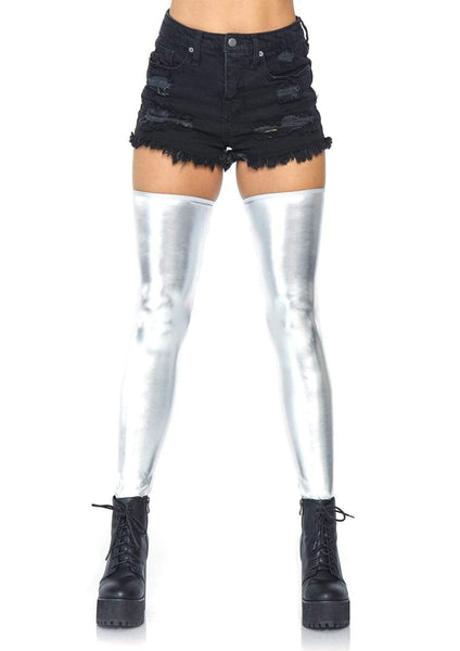 Wet look thigh highs