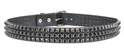 BT104-BS 3 ROW BLACK STUDDED BELT