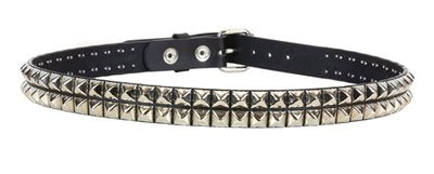 "BT117 BLACK 2 ROW 1/2"" PYRAMID BELT"