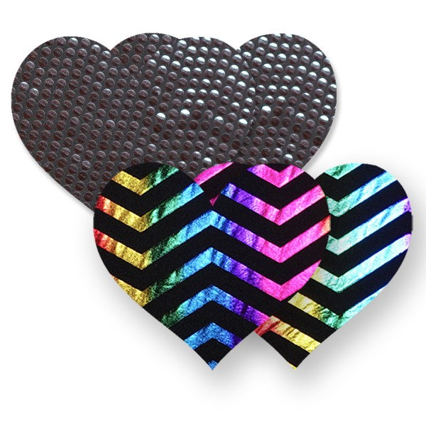 Nippies® Midnight Rainbow Heart (two pair)