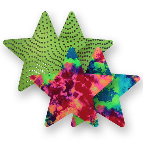 Nippies® Neon Carnival Stars (two pair)