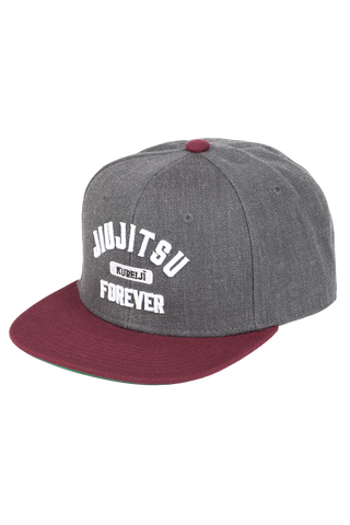 Jiujitsu Forever Hat (Grey, Burgundy & White)