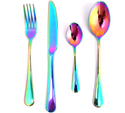 Rainbow Iridescent Unicorn Cutlery Set