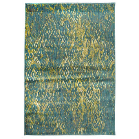 Adela Modern Blue Green Rectangular Floor Rug