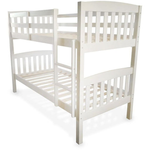 Single Convertible Wooden Kids Bunk Bed White